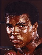 Celebrity Painting Prints - Ali Print by Tim  Scoggins