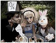 Mad Hatter Metal Prints - Alice and Friends 2 Metal Print by Kelly Jade King