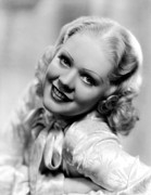 Thin Eyebrows Posters - Alice Faye, Ca. Late 1930s Poster by Everett