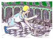 Alice Finds The Key Print by Herb Russel