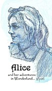 Adventures Drawings Framed Prints - Alice Framed Print by Herb Russel