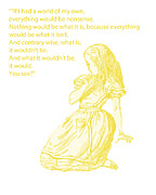 Childs Posters - Alice in Wonderland - If I had a world of my own Poster by Georgia Fowler