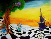 Mad Hatter Painting Prints - Alice in Wonderland Print by Ben Christianson