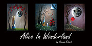 Alice In Wonderland Painting Metal Prints - Alice In Wonderland Collection by Shawna Erback Metal Print by Shawna Erback