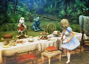 Alice In Wonderland Print by Jutta Maria Pusl