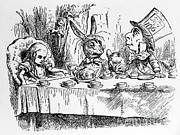 Tenniel Posters - Alice In Wonderland Poster by Photo Researchers, Inc.