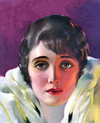 Illustrator Painting Prints - Alice Joyce 1920 Print by Stefan Kuhn
