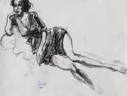 Feminine Drawings Originals - Alice by Marc Lauwers