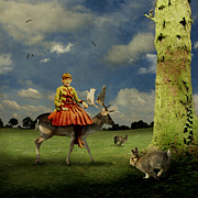 Alice In Wonderland Metal Prints - Alice Metal Print by Martine Roch