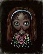 Alice In Wonderland Painting Metal Prints - Alicia Metal Print by  Abril Andrade Griffith