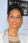 Updo Acrylic Prints - Alicia Keys At Arrivals For Keep Acrylic Print by Everett
