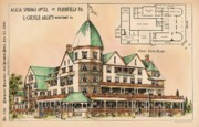 Alicia Art - Alicia Springs Hotel. Pennfield PA. 1890 by E Culver