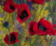 Colleen Taylor Art Prints - Alicias Poppies Print by Colleen Taylor