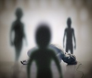 Abducted Posters - Alien Abduction Poster by Richard Kail