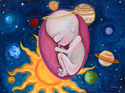 Bright Colors Art - Alien Baby by Sabina Espinet