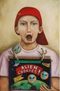 Wacky Prints - Alien Cookies Print by Leah Saulnier The Painting Maniac