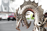 Iron  Sculpture Metal Prints - Alien Invasion.Dragon. Metal Print by Yurix Sardinelly