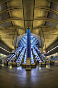 Metro Photo Metal Prints - Alien Landing Metal Print by Evelina Kremsdorf
