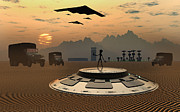 Flying Saucer Digital Art - Alien Landings Are A Common Occurrence by Mark Stevenson