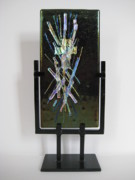 Science Fiction Glass Art Originals - Alien Light by Mark Lubich