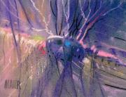 Pastel Pastels Originals - Alien Memories 1 by Donald Maier