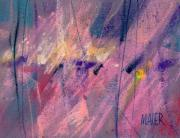 Pastel Pastels Originals - Alien Memories 3 by Donald Maier