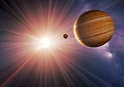 Extrasolar Planet Prints - Alien Planet And Star, Artwork Print by Detlev Van Ravenswaay