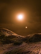 Extrasolar Planet Photos - Alien Planetary Surface by Richard Kail