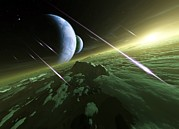 Exoplanet Photos - Alien Planetary System, Artwork by Detlev Van Ravenswaay
