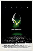 1970s Framed Prints - Alien, Poster Art, 1979 Framed Print by Everett