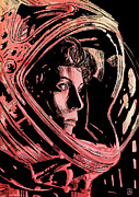 Icon Drawings Metal Prints - Alien Sigourney Weaver Metal Print by Giuseppe Cristiano