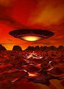 Alien World Prints - Alien Spacecraft, Artwork Print by Victor Habbick Visions