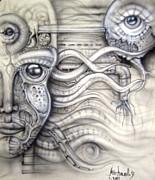Alien Woman Print by Michael Yakobovich