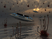 Discovery Digital Art - Aliens Celebrate Their Annual Harvest by Mark Stevenson