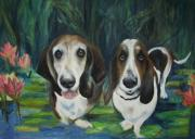Doggies Paintings - AliGator by Carol Gillette