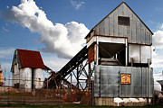 Rural America Framed Prints - Alive and Well in America . The Old Industrial Sand Plant in Berkeley California . 7D13952 Framed Print by Wingsdomain Art and Photography
