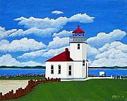 Pacific Coast And Western Artwork - Alki Point Light by Frederic Kohli
