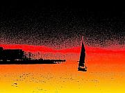 Alki Sail  Print by Tim Allen