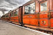 Wooden Platform Metal Prints - All Aboard Metal Print by Adrian Evans