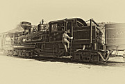 Coal Prints - All Aboard antique Print by Steve Harrington