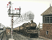 Train Station Drawings - All Aboard by Mike OBrien