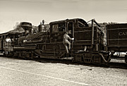 Wv Locomotive Photos - All Aboard by Steve Harrington