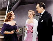 Pink Dress Prints - All About Eve, From Left Bette Davis Print by Everett