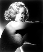 Colbw Acrylic Prints - All About Eve, Marilyn Monroe, 1950 Acrylic Print by Everett