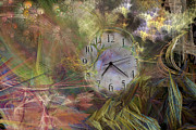 Clock Hands Digital Art Prints - All About Time Print by East Coast Barrier Islands Betsy A Cutler