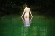 Nudes Photo Metal Prints - All Alone Metal Print by David  Naman