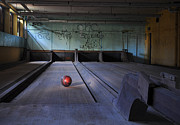 Bowling Alley Framed Prints - All Alone Framed Print by Luke Moore