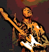 Jimi Hendrix Prints - All along the Watchtower Print by George Pedro
