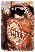 Old Car Door Photos - All American by Debra and Dave Vanderlaan