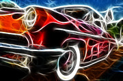 Fractalius Art Posters - All American Hot Rod Poster by Paul Ward